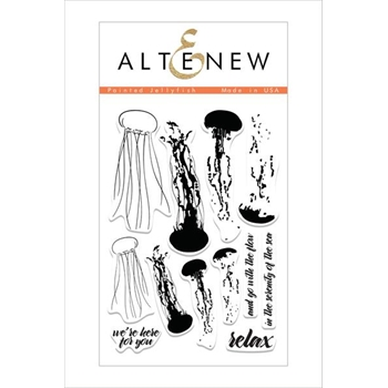Altenew PAINTED JELLYFISH Clear Stamp Set