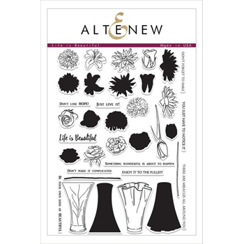 Altenew LIFE IS BEAUTIFUL Clear Stamp Set