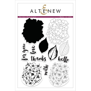 Altenew GARDEN HYDRANGEA Clear Stamp Set