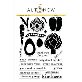 Altenew FARMERS MARKET Clear Stamp Set