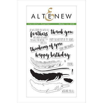 Altenew FAITHFUL FEATHER Clear Stamp Set