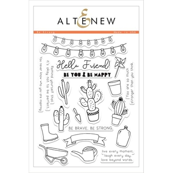 Altenew BE STRONG Clear Stamp Set