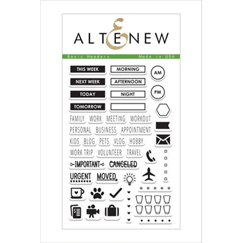 Altenew BASIC HEADERS Clear Stamp Set