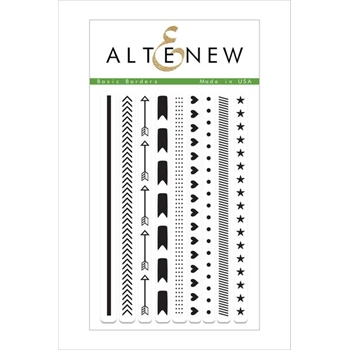 Altenew BASIC BORDERS Clear Stamp Set