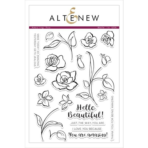 Altenew AMAZING YOU Clear Stamp Set Preview Image