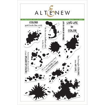 Altenew A SPLASH OF COLOR Clear Stamp Set