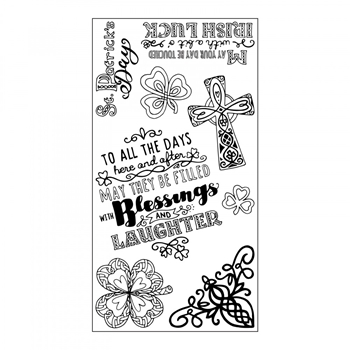 Sizzix Clear Stamps CELTIC ST. PATRICKS DAY 661994