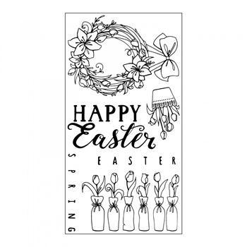 Sizzix Clear Stamps HAPPY EASTER 661998
