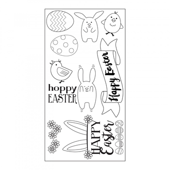 Sizzix Clear Stamps HOPPY EASTER 662000