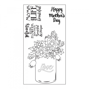 Sizzix Interchangeable Clear Stamps MOTHERS DAY 662003