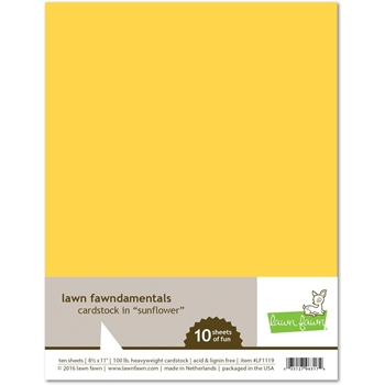 Lawn Fawn SUNFLOWER Cardstock LF1119
