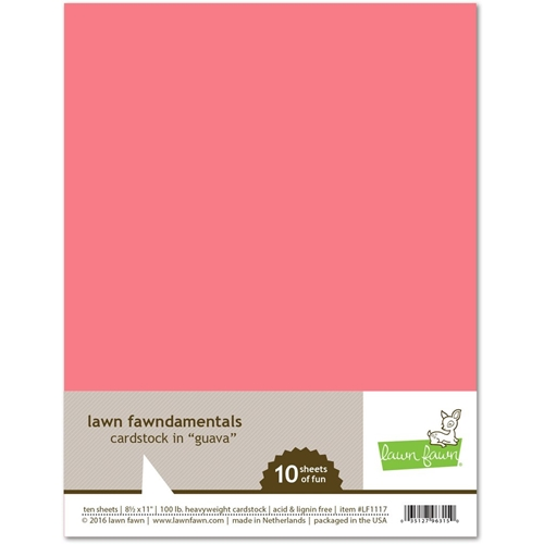 Lawn Fawn Guava Card Stock