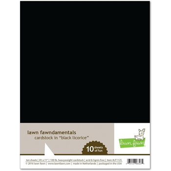 Lawn Fawn Black Licorice 8.5x11 in 100 lb cardstock