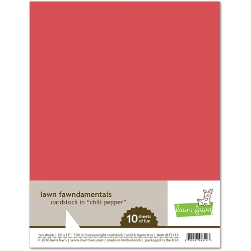 Lawn Fawn CHILI PEPPER Cardstock LF1116 Preview Image