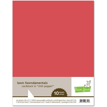 Lawn Fawn CHILI PEPPER Cardstock LF1116