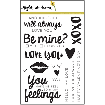 Right At Home BE MINE Clear Stamp 688630