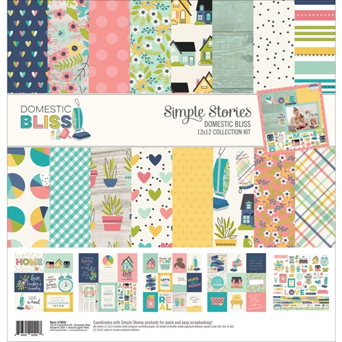 Simple Stories DOMESTIC BLISS 12 x 12 Collection Kit 7800 Preview Image