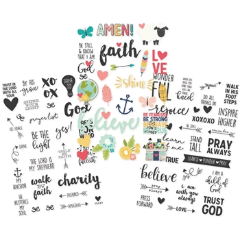 Simple Stories FAITH Clear Stickers 7725