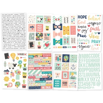Simple Stories FAITH 4 x 6 Stickers 7724