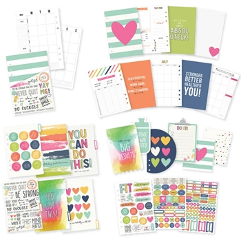 Simple Stories CARPE DIEM FITNESS A5 Planner Inserts 8900