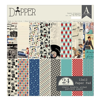 Authentique DAPPER 12 x 12 Paper Pad DAP013