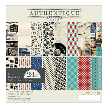 Authentique 6 x 6 DAPPER Paper Pad DAP011