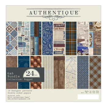 Authentique 6 x 6 RUGGED Paper Pad RUG011