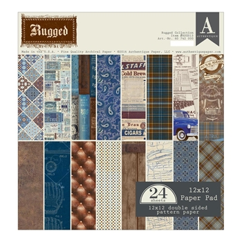 Authentique RUGGED 12 x 12 Paper Pad RUG013