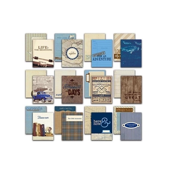 Authentique RUGGED 3 x 4 Journaling Cards RUG010
