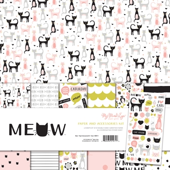My Mind's Eye MEOW 12 x 12 Paper And Accessories Kit MEW111