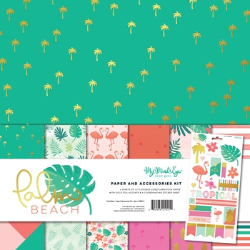 My Mind's Eye PALM BEACH 12 x 12 Paper And Accessories Kit PBH111