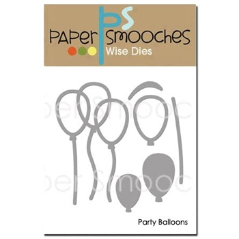 Paper Smooches PARTY BALLOONS Wise Dies FBD369