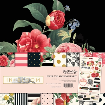 My Mind's Eye IN BLOOM 12 x 12 Paper And Accessories Kit BLM011