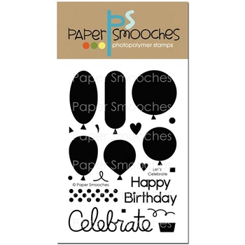 Paper Smooches LET'S CELEBRATE Clear Stamps FBS278