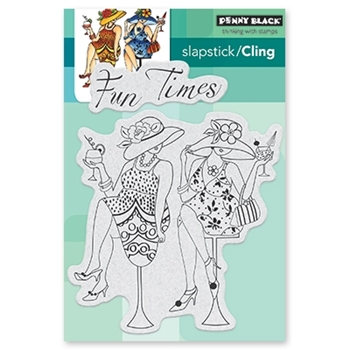 Penny Black Cling Stamp FUN TIME GIRLS 40-531