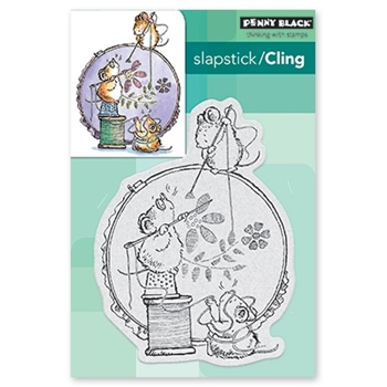 Penny Black Cling Stamp STITCH IN TIME 40-532
