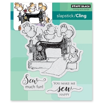 Penny Black Cling Stamp SEW MUCH FUN 40-533