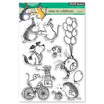 Penny Black Clear Stamps TIME TO CELEBRATE 30-414