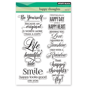 Penny Black Clear Stamps HAPPY THOUGHTS 30-416