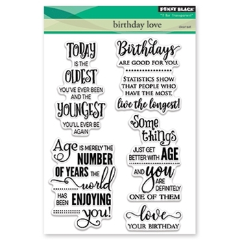 Penny Black Clear Stamps BIRTHDAY LOVE  30-413