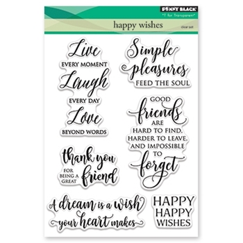 Penny Black Clear Stamps HAPPY WISHES 30-419