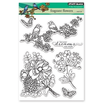 Penny Black Clear Stamps FRAGRANT FLOWERS 30-420