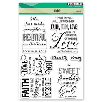 Penny Black Clear Stamps FAITH 30-409