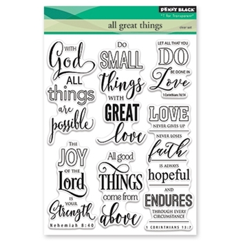 Penny Black Clear Stamps ALL GREAT THINGS 30-406