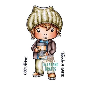 La-La Land Crafts Cling Stamp COOL BEANS LUKA Set 5330