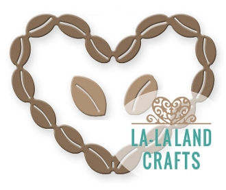 La-La Land Crafts COFFEE BEAN HEART Die 8269