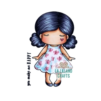 La-La Land Crafts Cling Stamp PAPER DOLL MARCI 5328