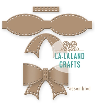 La-La Land Crafts STITCHED BOW Die Set 8264