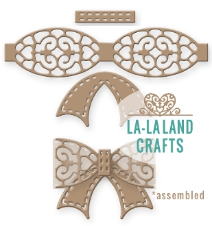 La-La Land Crafts FILIGREE BOW Die Set 8265