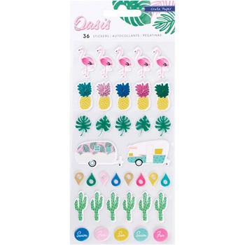 Crate Paper OASIS Puffy Stickers 378996